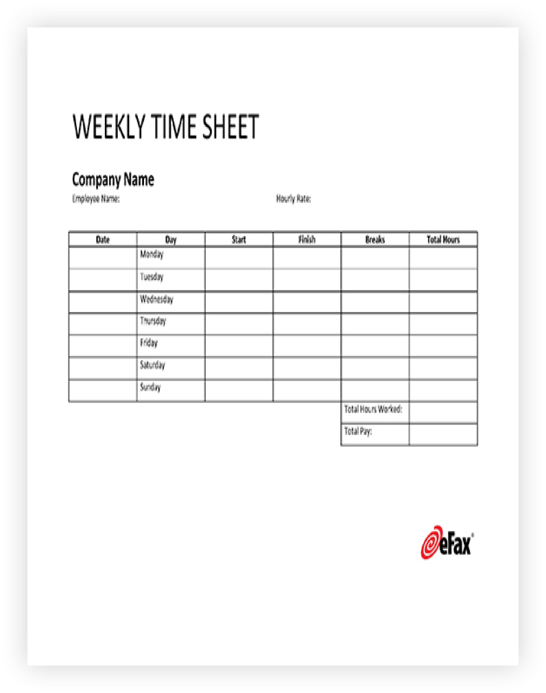 Timesheet Template One